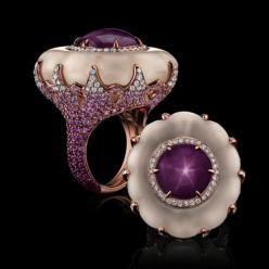 Star Ruby & Carved Quartz Ring - Robert Procop |Pinned from PinTo for iPad|