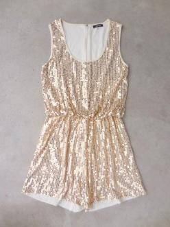 Gold Sequins Party Romper: Romper Covered, Sequins Party, Party Romper, Sparkling Sequins, Ivory Romper, Dream, Dress, Romper Finished, Glittery Things