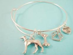 Greyhound Charm Bangle Bracelet