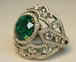 Image detail for -Assembling A Platinum Ring With A 13-Carat Emerald - English Russia