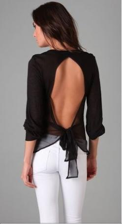 chiffron bow tie back top, #shirts, #black http://media-cache9.pinterest.com/upload/57702438945196968_DOrWrZeA_f.jpg lfung fashion