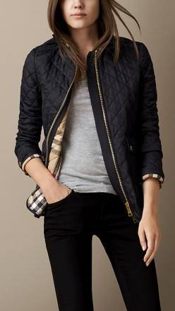 Corduroy Collar Quilted Jacket | Burberry: Burberry Coat, Corduroy Collar, Burberry Outfit, Burberry Jacket