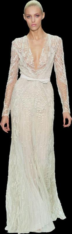 Elie Saab wedding dress. I am not usually the un-engaged gal to post wedding things but holy moley is this gorgeous, mail order husband stat!