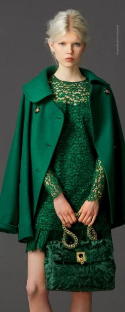 Ermanno Scervino Pre-Fall 2014 i love the color and the lace.
