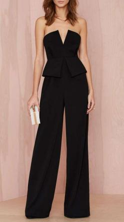 Nasty Gal Love to Love You Peplum Jumpsuit