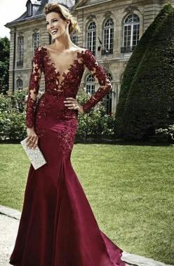 Zuhair Murad ♥ ♥ ★ ● ★ ●a sheer lace to solid transition- in a youthful color and not sheer bodice