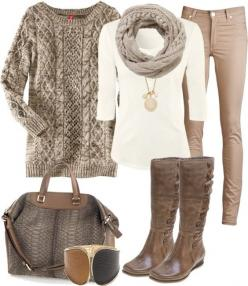 """Creamy Comfort"" by heather-rolin on Polyvore"