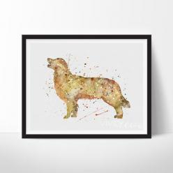 Golden Retriever Dog 2: Golden Retrievers, Golden Retriever Bruno, Pet Pics, Watercolor Illustrations
