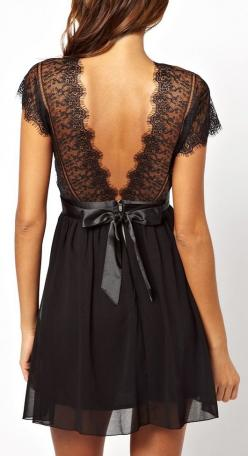 I like the dress pictured here the most. Some of the others are pretty cute, but some aren't...: Fashion, Style, Black Laces, Little Black Dresses, Black Lace Dresses, Black Dress