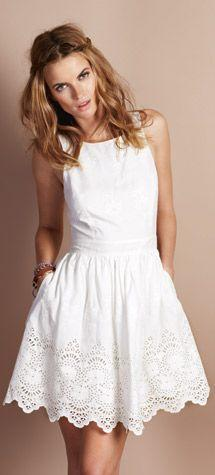 Meerbrooke Dress From Jack Wills- beautiful dress and I love her hair! Discover and shop the latest women fashion, celebrity, street style, outfit ideas you love on www.zkkoo.com: Lace White Dress, Meerbrooke Dress, White Sun Dress, White Summer Dress, Bo