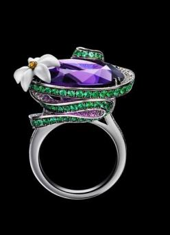 "Piaget amethyst creative ""cocktail"" ring"