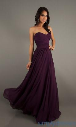 Strapless Sweetheart Gown, Long Homecoming Dress - Simply Dresses: Style, Promdresses, Bridesmaid Dresses, Wedding, Chiffon Prom Dress, Prom Dresses