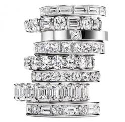 If this had a double halo it would be amazing. This band makes THIS ring the perfect ring!: Unique Engagement Rings Halo, Harry Winston Engagement Ring, Engagement Rings Double Band, Diamond, Beautiful Rings, Wedding Rings, Double Banded Engagement Rings,