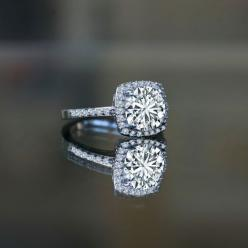 Love this ring: Diamond Stacking Rings, Blossom Diamond, Jewelry, Gold Flower, Engagement Rings, Hydrangeas
