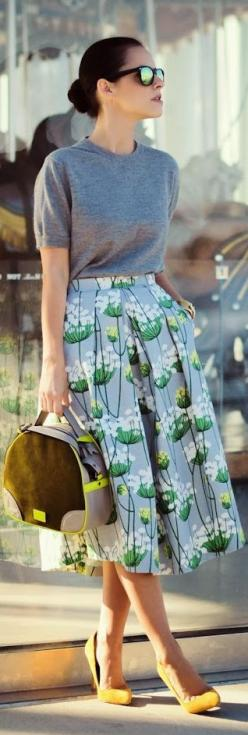 Love this skirt. #streetstyle