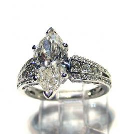 diamond ring settings for marquise diamond | It Doesn't Have to Be Diamonds.
