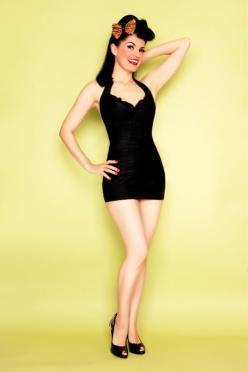 LOLITA GIRL Solid Black Halter Marilyn Swimsuit   http://www.unique-vintage.com/lolita-girl-solid-black-halter-marilyn-swimsuit-p-16204.html