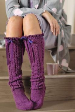 #purple- cute socks will never come out of fashion ( well not for me anyway)