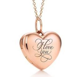 "Tiffany & Co. Rose Gold ""I Love You"" Locket"
