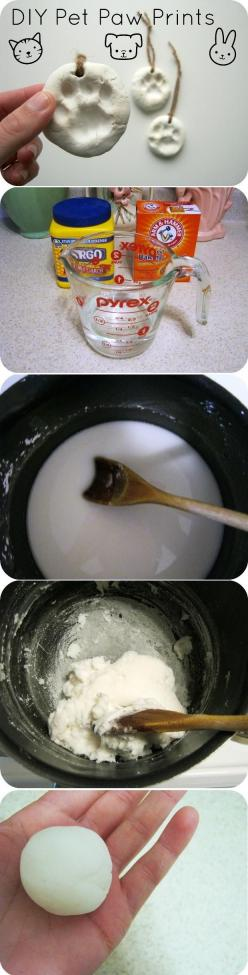 1/2 cup cornstarch, 1 cup baking soda, 3/4 cup water, a small saucepan, and a spoon. Heat the mixture over medium heat and stir constantly. Remove from the heat and let the clay cool until you can handle it comfortably. Knead it for a minute to make it re