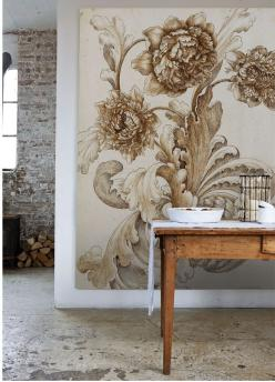Amazing collection of old-style botanical images and architechural plans from Sir John Soane. Available as large scale wall images.: Wall Art, Interior, Large Wall Mural, Wall Murals, Large Wall Idea