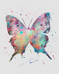 Butterfly: Watercolor Art, Butterflies Dragonflies, Art Inspiration Fotografie, Child Art Education, Dreamy Art, Art Patterns Colours Cute Nice