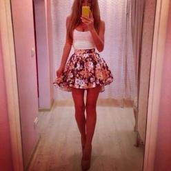 cute summer outfit: Outfits, Fashion, Summer Outfit, Style, Skirts, Clothes, Dress