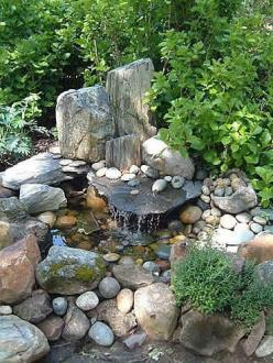 garden water feature: Garden Ideas, Water Gardens, Water Features, Outdoor, Waterfeature, Backyard, Watergarden