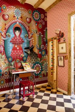 New wallpaper and wall mural collection from Catalina Estrada (2): Interior, Idea, Red Riding Hood, Little Red, Wallpapers, Design, Catalinaestrada, Catalina Highway