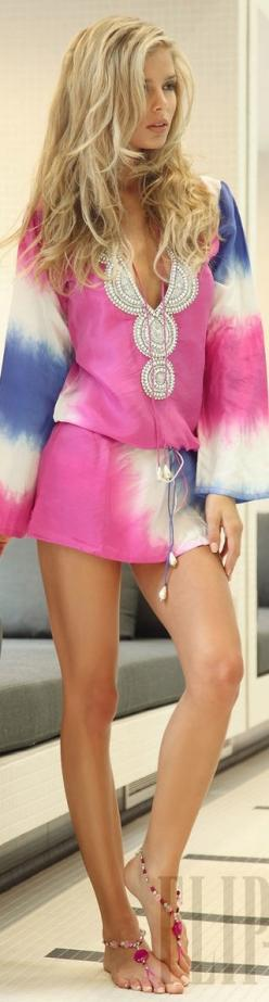 Perfect!: Tie Dye, Fashion, Beach Outfit, Style, Dress, Summer, Swimsuit Coverup, Beach Cover
