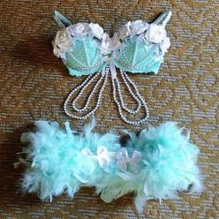 Rave Outfit Ideas - Mermaid Outfit EDC: Idea, Rave Wear, Edc Outfit, Eat Sleep Rave Repeat, Raveoutfits, Rave Outfits, Rave Costume, Mermaid, Rave Bras