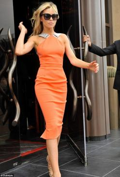 Victoria Beckham: Fashion, Beckham Style, Outfit, Things, Orange Dress, Wear, Victoria Beckham Dresses