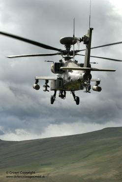 An Apache helicopter from 4 Regiment, 656 Squadron Army Air Corps, during live firing training at Otterburn Ranges in Northumberland.: Firing Training, Squadron Army, Otterburn Ranges, Regiment 656, Air Corps, Army Air, Live Firing, 656 Squadron