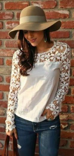 Crochet top Love!: Fashion, Style, Lace Top, Cute Top, Outfit, Crochet Tops, Cut Outs