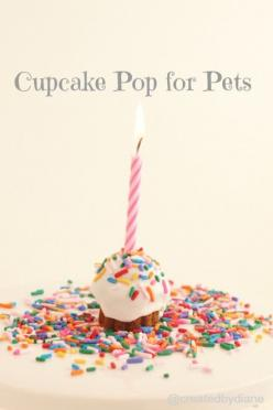 Cupcake pops for pets  http://www.createdby-diane.com/2013/01/how-to-make-a-no-bake-cake-for-you-cat-or-dog.html: Createdbydiane, Birthday Cake For Cat, Pet, Birthday Cake For Dogs Recipe, Dog Food Recipe