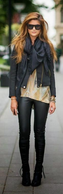 For sum reason I actually like this&ive been wanting a pair of leather looking leggings.dont know why as I will probly feel uncomfotble wearing them in public.hippieville just dont wear stuff like this but ive always wanted 2 go around totally put tog