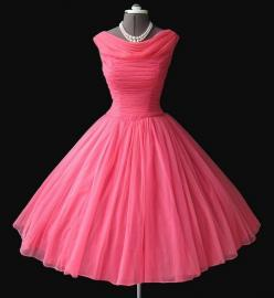 ilovedora03:    Pink is my { Signature Color } . Julia Roberts in Steel Magnolias / 1950 on We Heart It. http://weheartit.com/entry/50933619/via/kitcat3758: Style, 1950S, Dresses, Prom Dress, Vintage Dress, 1950 S, Pink Dress