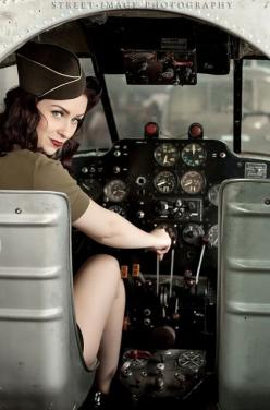Love this! Me and Nathan found an abandoned aircraft similar to this,,, - Salute Our Veterans by Supporting the Businesses of www.VeteransDirectory.com and Hiring Veterans. Post Jobs at www.HireAVeteran.com: Nose Art, Military Pinup, Pinups, Cockpit, Avia