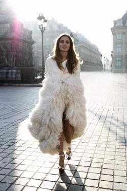 THE MATERIAL LIST: Fur Coats, Fashion, Inspiration, Street Style, Dress, Outfit, Street Styles, Feathers, White Fur
