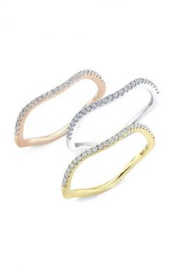 Bony Levy Wavy Stackable Diamond Ring (Nordstrom Exclusive) Pavé diamonds illuminate a wavy band handcrafted in shiny 18-karat gold.  Total diamond weight: 0.15ct.  Color: G.  Clarity: VS.  Diamonds/18k yellow or rose gold or18k white gold with rhodium pl