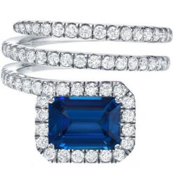 Royal Blue Sapphire And Diamond Ring