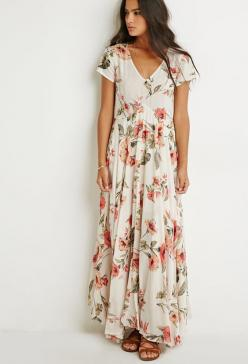 FOREVER 21 Raga Tropical Getaway Maxi Dress