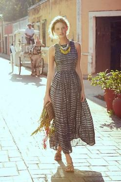 Shibori Maxi Dress  #anthrofav #greigedesign
