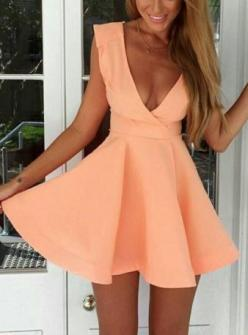 30 Summer Dresses Under $30: Coral Dress, Fashion, Summer Dresse, Summer Style, Flare Dress, Dresses, Sleeveless Flare, Peach Dress