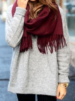 a cozy scarf is our go-to cold weather essential!: Fall Style, Dream Closet, Sweater Weather, Red Scarf, Fall Outfit, Red Scarves, Fall Winter