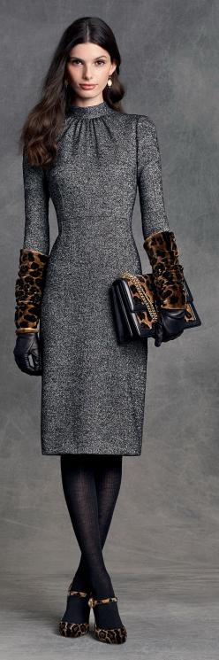 Adore all of this but the bag. Leopard print is my guilty pleasure in small accented pieces.: Leopard Print, Fashion, Dolce Gabbana, Patentrubber, Dress, Gabbana Winter, Winter 2016, Dolce & Gabbana