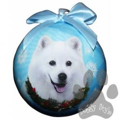 American Eskimo Shatterproof Dog Breed Christmas Ornament - http://doggystylegifts.com/collections/christmas-ball-ornaments/products/american-eskimo-shatterproof-dog-breed-christmas-ornament: Shatterproof Dog, American Eskimo Dog, Eskimo Shatterproof, Esk