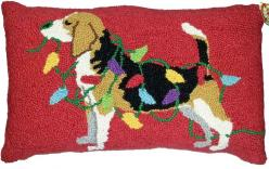 Beagle Hound Dog Holiday Lights Pillow - A Love Of Dogs – For the Love Of Dogs - Shopping for a Cause: Lights Pillow, Holiday Lights, Dog Pattern, Christmas Lights, Christmas Holiday, Dogs Shopping