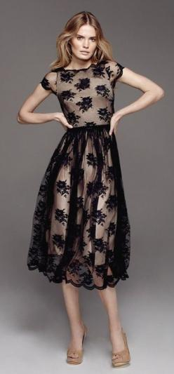 Black lace sheer mid formal dress ♥✤ | Keep the Glamour | BeStayBeautiful #HauteCouture: Formal Dresses, Mid Formal, Black Laces, Black Lace Dresses, Lace Sheer, Black Dress