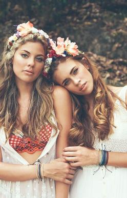 Festival Fashion ft. Pura Vida Bracelets Track Bead Collection: Girl, Flower Crown Fashion, Flower Crowns Festival, Boho Flower Crown Hippie, Beasts, Hair Crowns, Bohemian Style, Flower Crown Friends